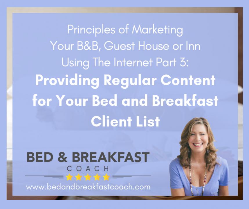 Running a bed and breakfast